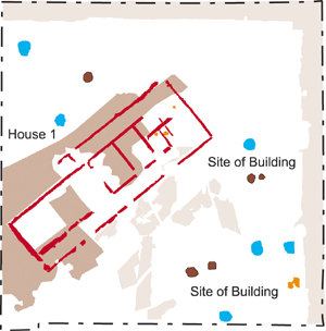 Site drawing showing position of House 1