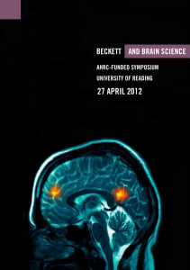 Beckett and Brain Science 2012. Poster designed by Rhys Tranter.