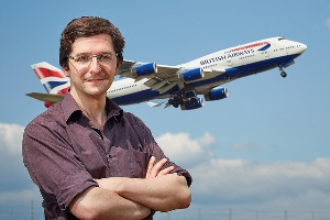 Dr Paul Williams pictured at Heathrow Airport