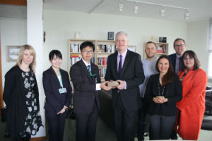 Two brick fragments from the atomic bomb blast site in Hiroshima were donated to the University of Reading