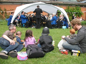 Silver band at MERL fete 2012