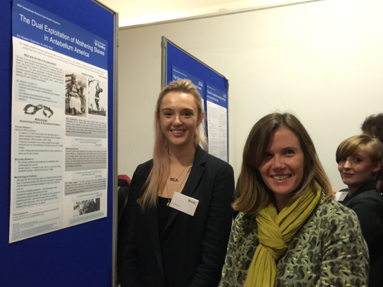 Dr Emily West with a research student