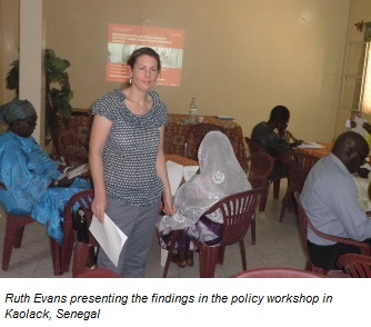 Discussions during the policy workshop in Kaolack, Senegal