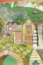 Detail of a cover design by Rena Gardiner for a piano recital programme (1987)