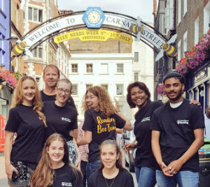 The Reading Bee Team in 'Carnabee Street' in London