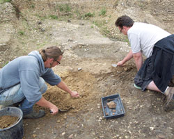 Excavating at Silchester field school