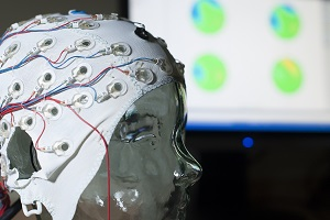 EEG cap that could be used to screen for dementia in the future