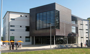 The newly opened Carrington Building, for student services