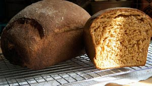 Loaves of wholemeal bread