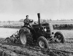 Photograph of a tractor from the MERL archives