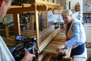 Rural crafts: weaver