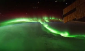 The Northern Lights viewed from a NASA satellite
