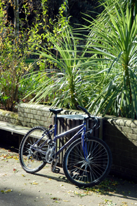 A bicycle at the University of Reading