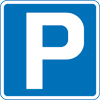 Parking sign Crown Copyright