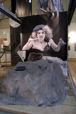 Picture of Billie Whitelaw at the Beckett Centenary exhibition, 2006