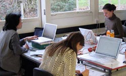 Postgraduate students working in Typography