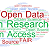 multi-coloured word cloud of Open Research terms
