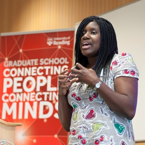 Bridget Ogwezi, winner of the 2015 Three Minutes Thesis Competition