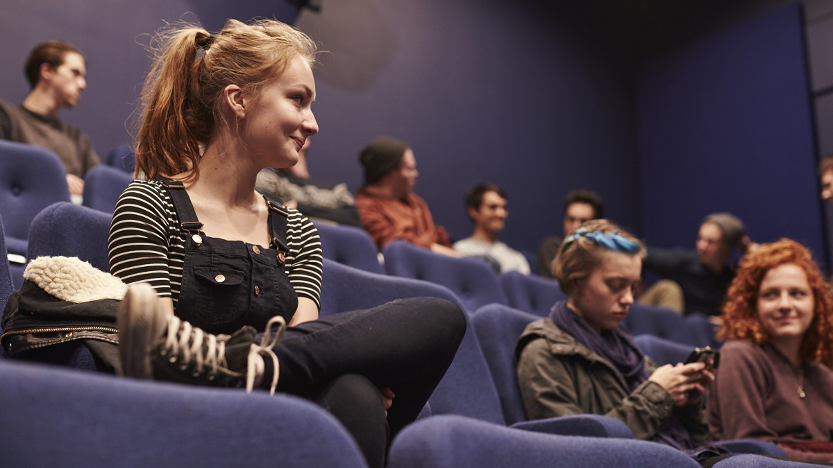students sitting in a lecture theatre