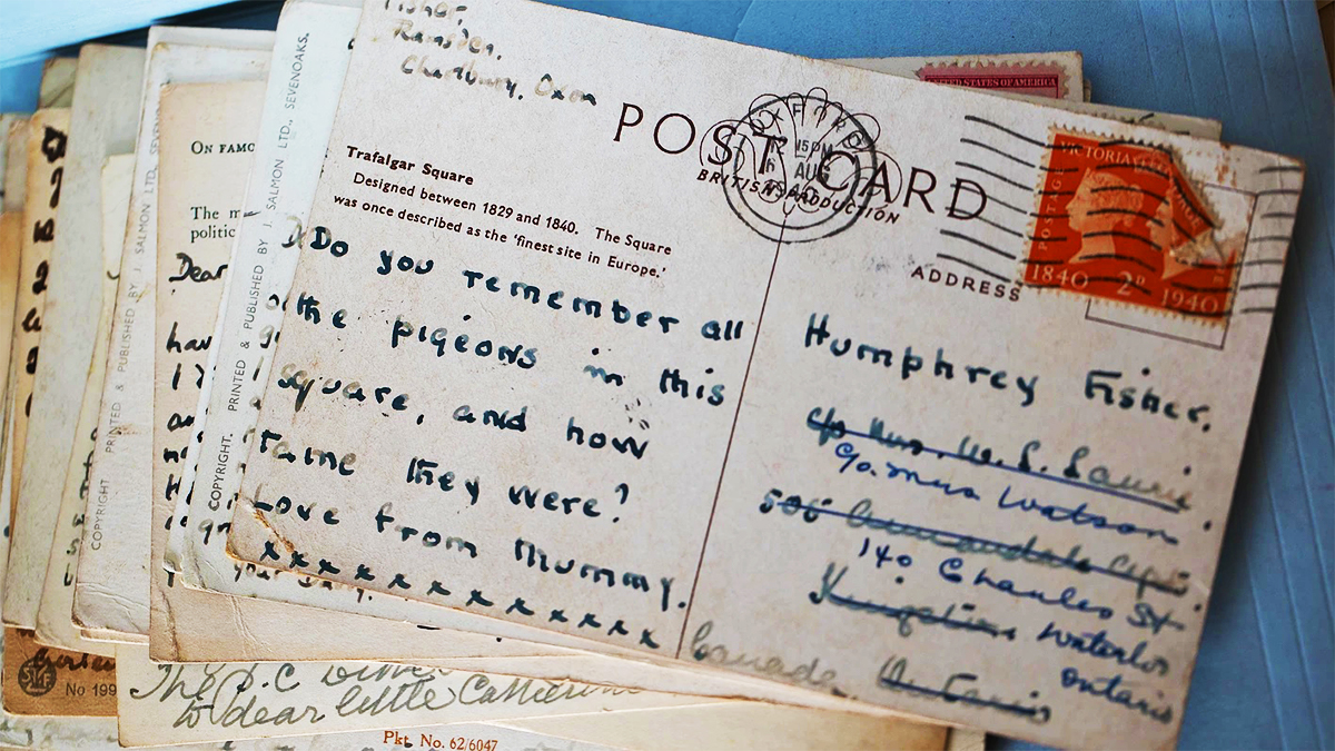 Postcards to and from WWII evacuees as part of the War Child Archive research project