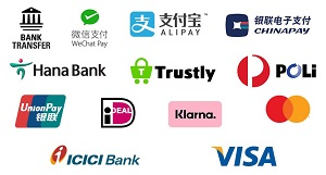 list of payments accepted by WU
