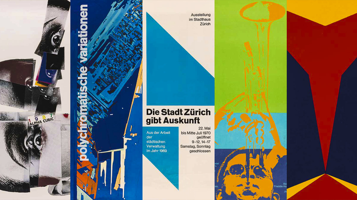 Montage of five posters from the Twentieth Century Poster Collection