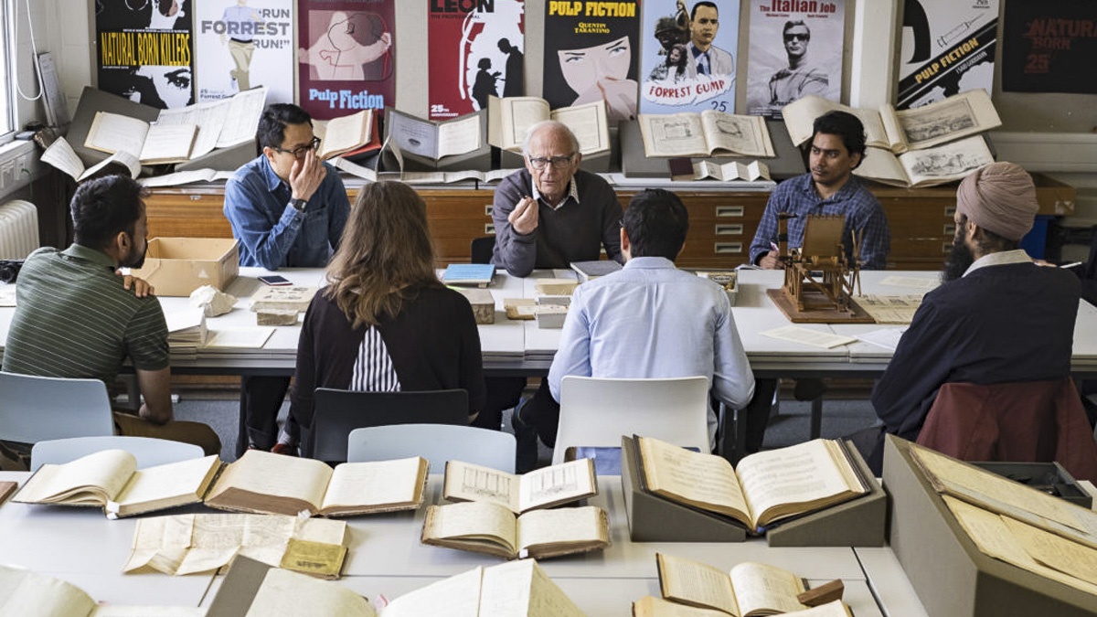 Collections-based book design workshop with master's students