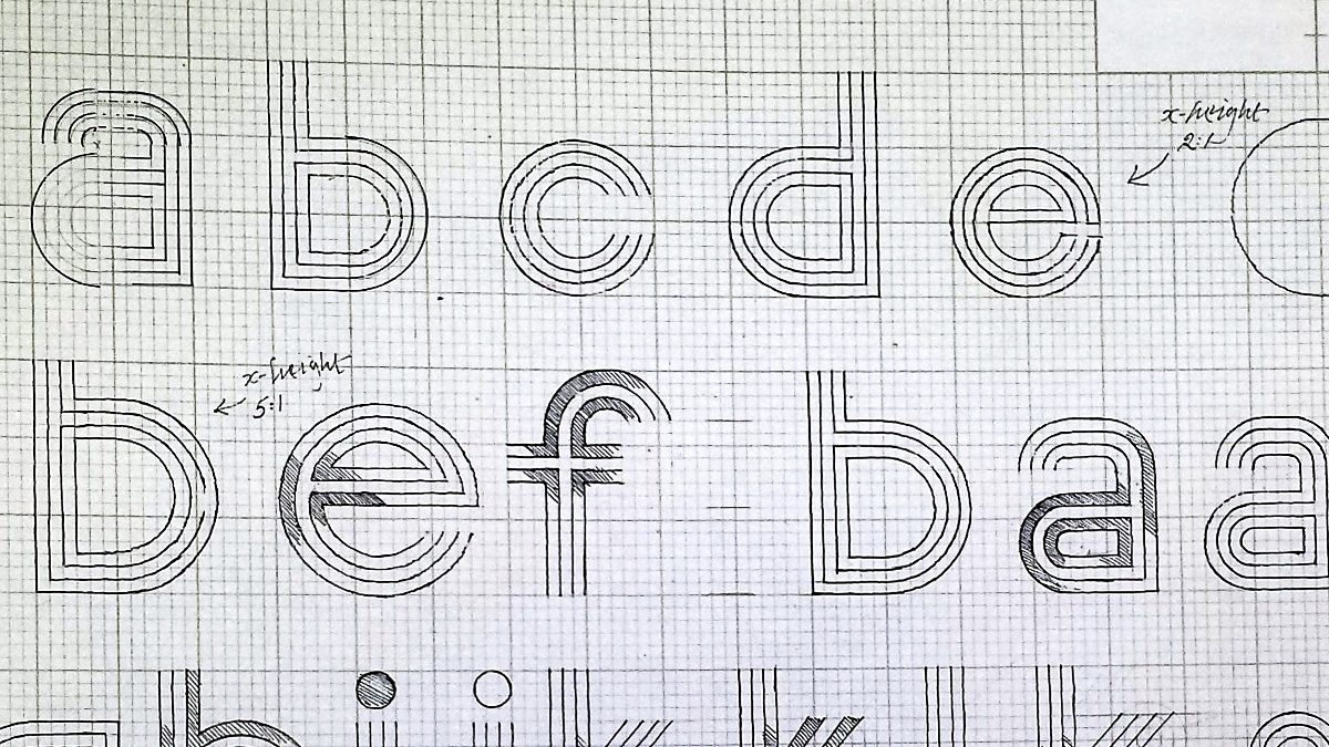 Example of alphabet type design from Banks and Miles Collection, held by the Department