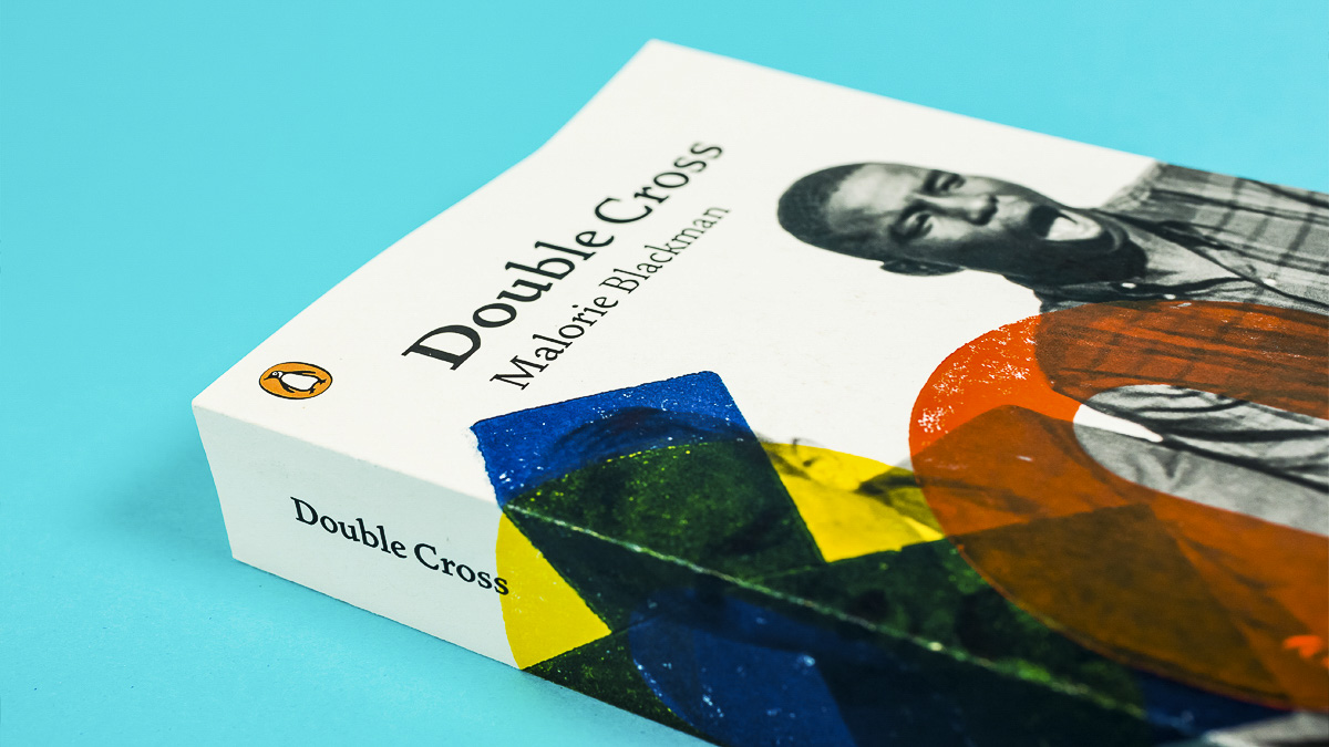 Book cover design for Double Cross by Malorie Blackman by master's student as final project