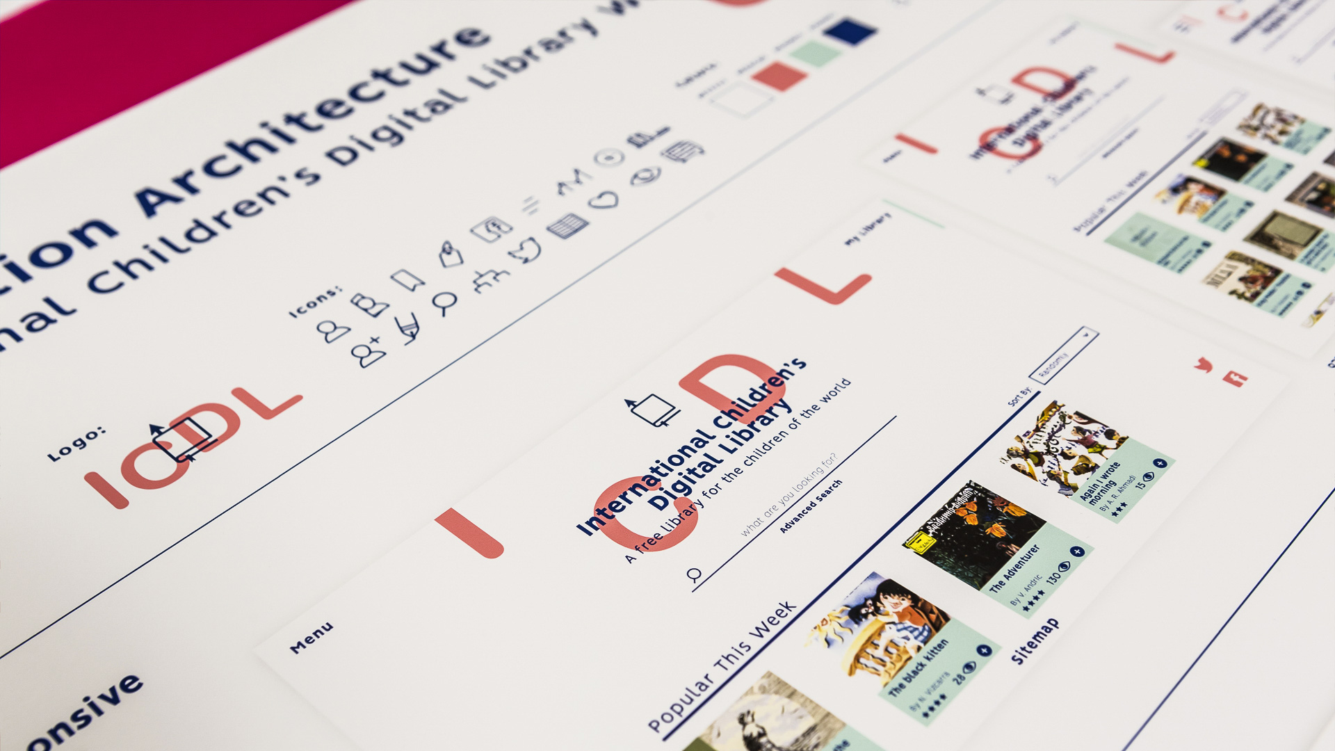 User interface information design project by master's student Maria Pitsillidou
