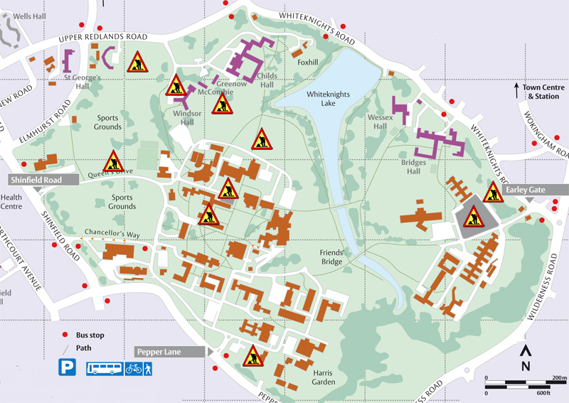 University Of Reading Map Current Building Work on Whiteknights Campus   University of Reading University Of Reading Map
