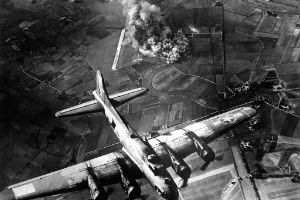 Allied bombing raids in Europe sent shock waves to the edge of space