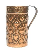 Copper mug designed by Elizabeth Waterhouse