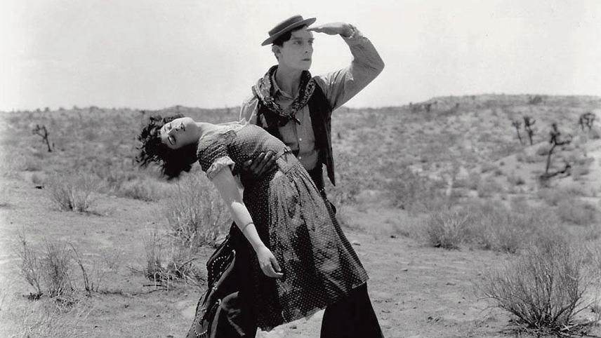 Still from Brazilian silent movie 'Go West'