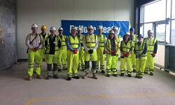 colour photograph of guests at topping out ceremony