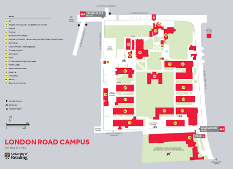 Reading University Campus Map Where are We   University of Reading