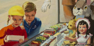 Shopping With Mother artwork from the Ladybird Books collections at the University of Reading