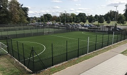 View of 5 aside football pitches