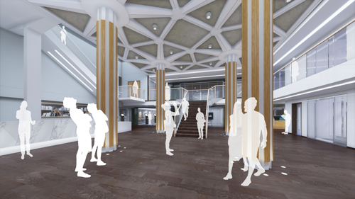 Proposed redesigned entrance hall