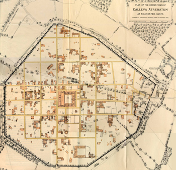 The Society of Antiquaries of London plan of Silchester Roman Town