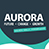 aurora programme logo, white lettering to green and grey background