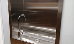 Water fountain in the Library